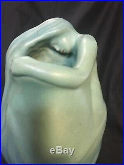 Turquoise 11 Van Briggle Studio Lorelei Nude Maiden Vase