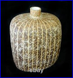 US Ohio Striped Stoneware Vase 18.5 Tuchub by Claude Conover (1907-1994)(ZyK)
