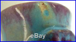 Una Deerbon Applied Flowers Vase Australian Pottery Ceramic Studio
