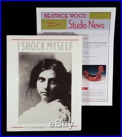 VINTAGE BEATRICE WOOD BEATO CALIFORNIA STUDIO ART POTTERY MOON VASE POT With BOOK