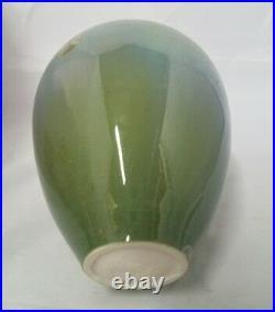 VINTAGE CRYSTALLINE Studio Art Signed Pottery Vase California