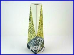Vase Triangla No 8 Lars Thoren Rörstrand Midcentury Studio Pottery Schweden