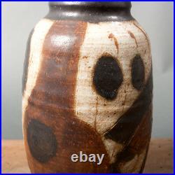 Vase Trille Jorgensen pattern danish studio pottery large scandinavian unique