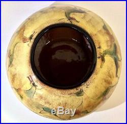 Very Fine Vintage Polia Pillin Low Vase, Cave Painting Motif, c. 1950s60s