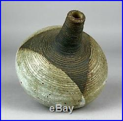 Victor Priem (latvian, 1925-1989) Studio Stoneware Pottery Ovoid Footed Vase'70