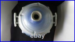 Vintage Alewine Gatlinburg Studio Art Pottery Vase Vessel Luminary Blue Gray 85