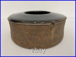 Vintage Byron Temple stoneware studio pottery bowl vase Japanese style ceramics
