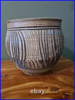 Vintage Charles Counts Sgraffito Art Pottery Pot/vase Mid-century Modern Listed