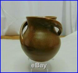 Vintage Handmade By Gordy Pottery W J Gordy Signed Handled Vase Cartersville GA