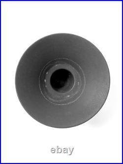 Vintage Mid Century Modern Architectural matte black stoneware pottery Vase