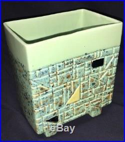 Vintage Mid Century Modern Geometric Art Deco Lloyd Wright Era Ceramic Sculpture