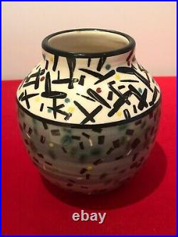 Vintage SCOTT McDOWELL Post Modern Studio Art Pottery Vase c. 1980