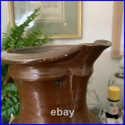 Vintage Studio Pottery Handmade Brown Jug Pitcher Vase 33cm Mick Michael Casson