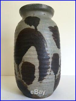 Vtg 1965 MID Century Organic Modern Studio Pottery Stoneware Signed Ceramic Vase