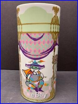 Vtg Rosenthal Germany Studio Line Commedia Dell Arte Porcelain Vase Signed