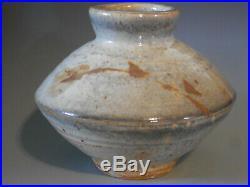 Warren MacKenzie large pottery vase, exhibition piece, beautiful brushwork