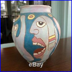 Washington Ledesma Studio Pottery Figurative Vase Tranquil Hands Pennsylvania 85