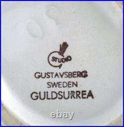 Wilhelm Kåge for Gustavsberg Studio Hand. Large Gold Surrea ceramic split vase
