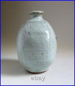William Plumptre Paddled Stoneware Nuka Glazed Vase. 16.5cm Tatsuzo Shimaoka