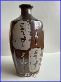 Wonderful Jim Malone Studio Pottery Bottle Vase