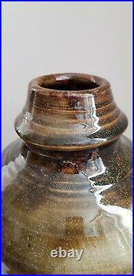 XL RAY FINCH Winchcombe Studio Pottery Slipware Vase British Art Cardew Leach
